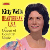 KITTY WELLS - HEARTBREAK U.S.A. / QUEEN OF COUNTRY MUSIC (SEPIA 1281)